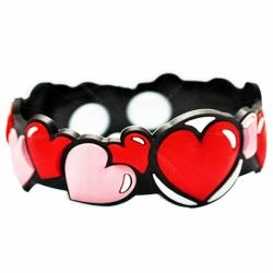 2D design soft PVC bracelet