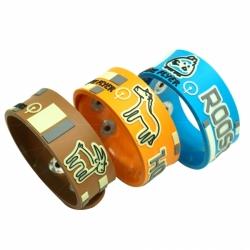 3D design soft PVC rubber wristband bracelet