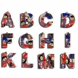 英文字母徽章