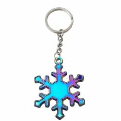 彩虹電鍍鑰匙圈